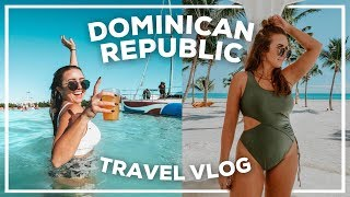 TRAVEL VLOG: 4 Days in the Dominican Republic! Swimming w/ Sharks + the Bluest Water EVER | 2020