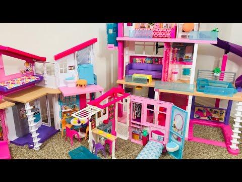 Barbie Dream House Vs Malibu House Vs Close & Go House!!