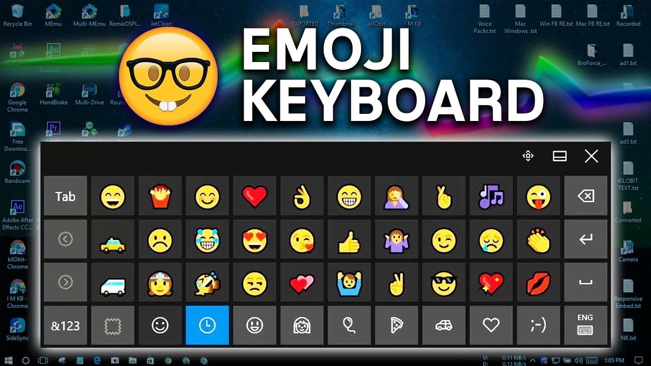 Emoji keyboard for pc