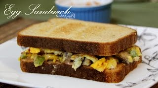 Egg Recipes - Egg Cheese Sandwich Recipe - Indian Breakfast Recipe - Healthy Recipe