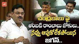 Ambati Rambabu Funny Satires on Chandrababu Naidu in AP Assembly 2019 | YS Jagan | YCP,TDP | YOYO TV