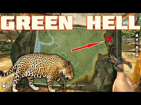 💀 Пещера, лагерь туземцев ,карта, ягуар, скорпион, пауки  Green Hell сюжет прохождение #2 💀