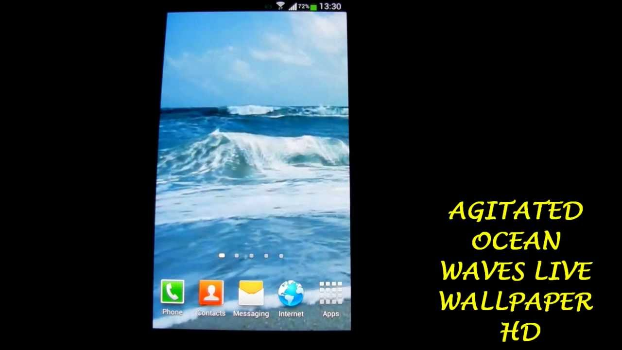Agitated Ocean Waves Live Wallpaper HD