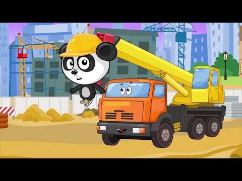 Сборник Развивающих Мультиков Для Детей – Стройка и Большие Машины Помощники – Все Серии Биби Подряд