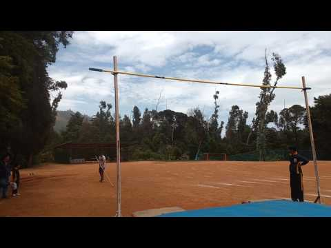 Pole vault with bamboo pole
