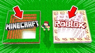 DON'T PICK the wrong hole in MINECRAFT. ROBLOX VS MINECRAFT?