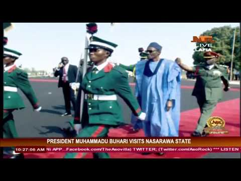 President Muhammadu Buhari Visits Nasarawa State: Inspects Guards of Honour