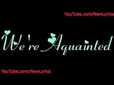 The Weeknd  Aquainted lyrics with sound