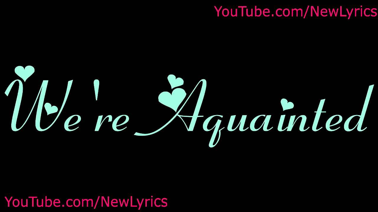 the-weeknd-aquainted-lyrics-with-sound-newlyrics