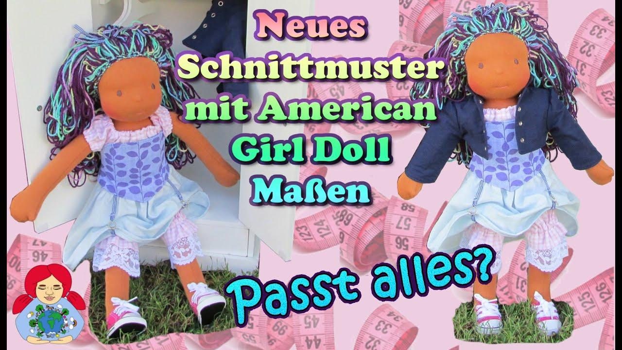 Neues Schnittmuster mit American Girl Doll Maßen | Sind die Maße ...