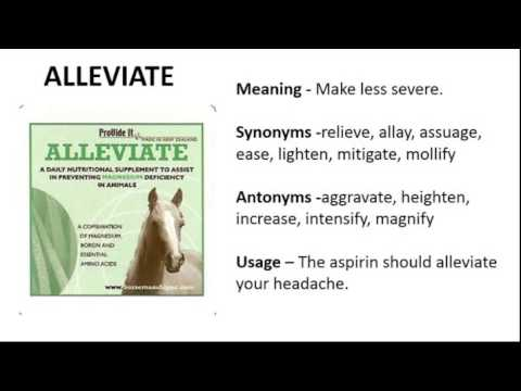 how to use alleviate in a sentence