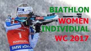 BIATHLON WOMEN INDIVIDUAL  15.02.2017 World Championships Hochfilzen (Austria)