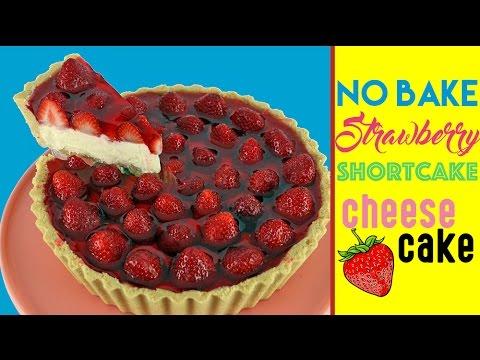 Strawberry Shortcake Cheesecake Recipe | NO BAKE | Elise Strachan | My Cupcake Addiction