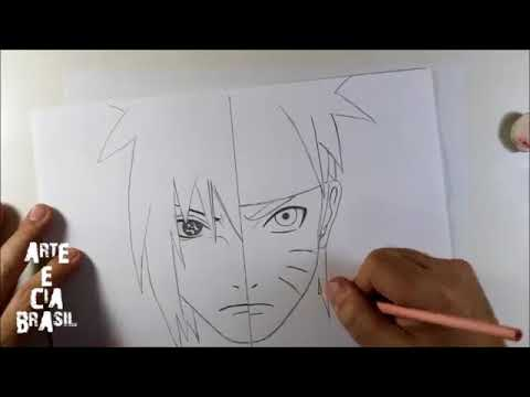 How To Draw Sasuke Vs Naruto - Step By Step