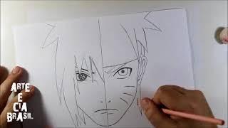 How To Draw Sasuke Vs Naruto - Step By Step