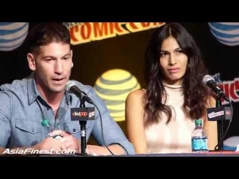 Elektra Elodie Yung & Jon Bernthal Frank Castle Punisher talks Daredevil at New York Comic Con 2015