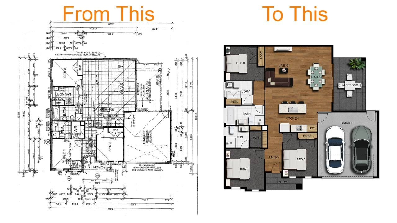 How to create a 2d colour floor plan or rendered floor How to make a floor plan