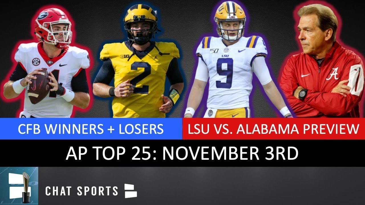 Winners and losers from Week 11 in college football led by LSU ...