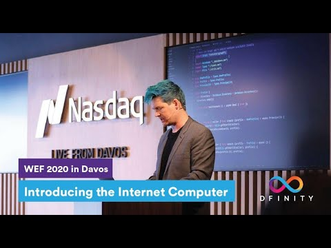 Introducing the Internet Computer (Bronze) | WEF 2020 in Davos