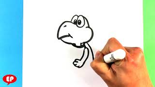 a koopa troopa from mario bros drawing lesson