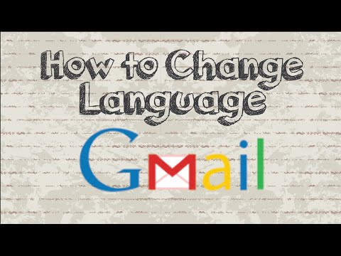 How to change Gmail language settings