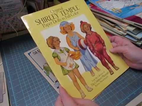 Lots of Paper Doll Books in My Shop (and vintage buttons!)
