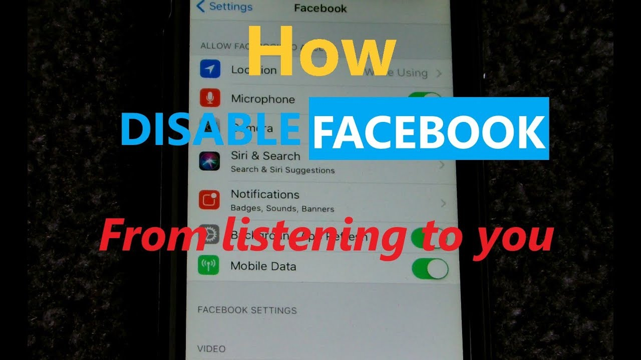 how to turn microphone on facebook