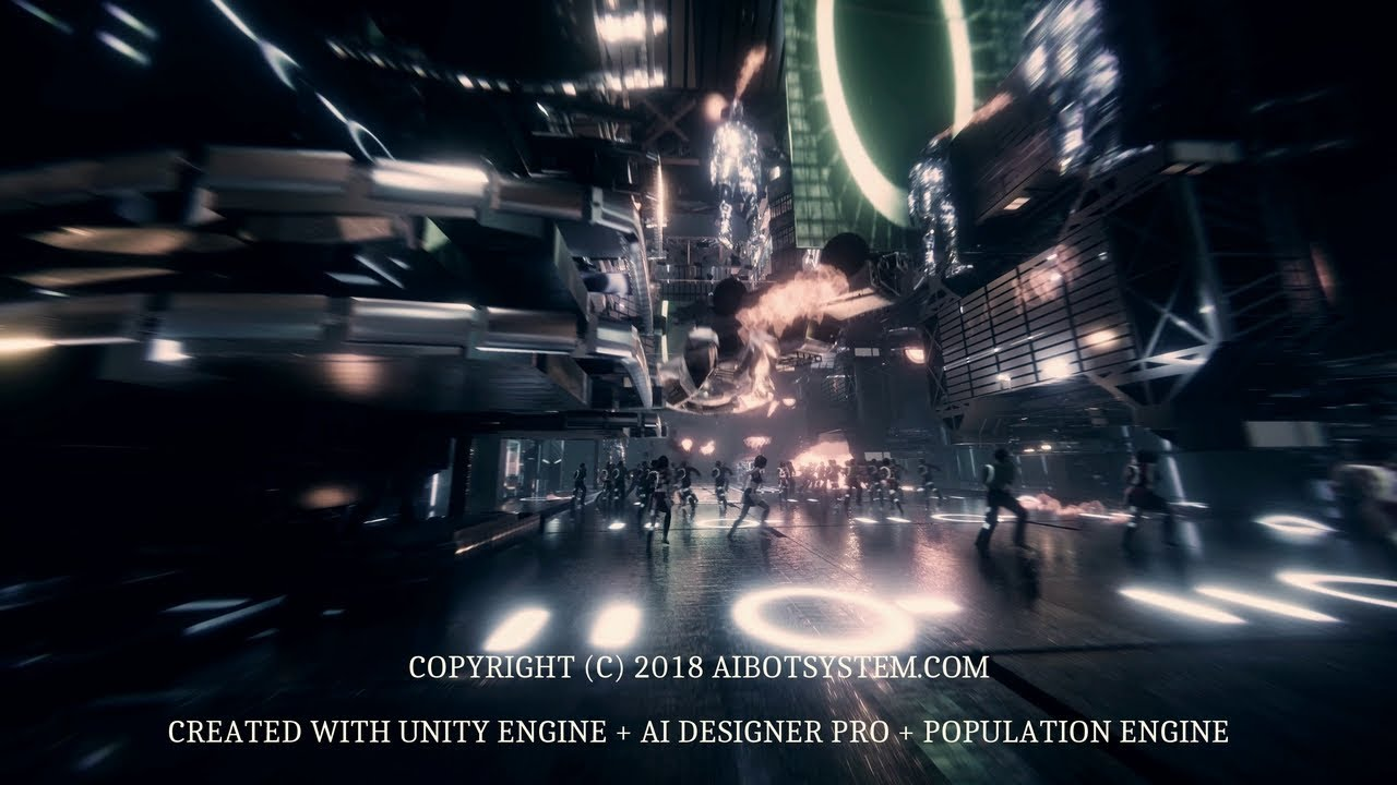 Population Engine (for Unity3D) by AIBotSystem com