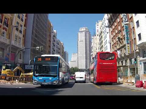 (2018/08/15) Driving  in Madrid  August 2018  - Gg conduit à Madrid un 15 Août ...