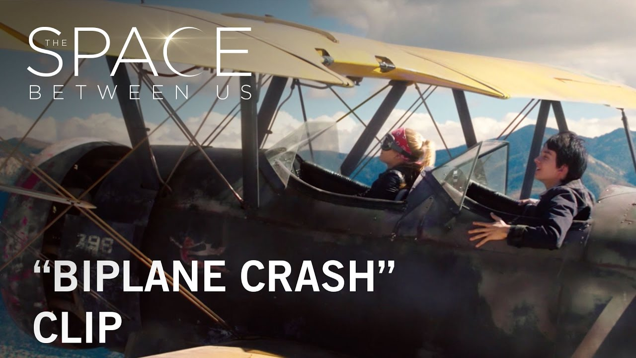 "The Space Between Us  ""Biplane Crash"" Clip  Now Playing"