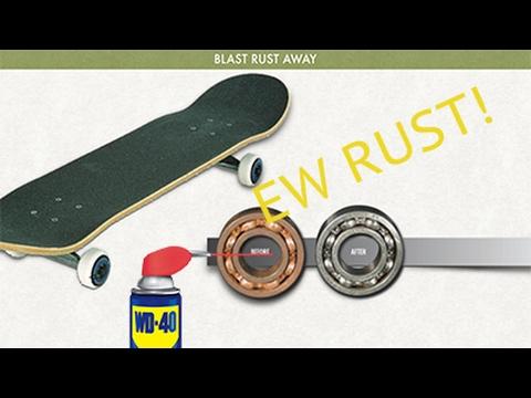 Fastest Way To Fix Rusty Skateboard Wheels!