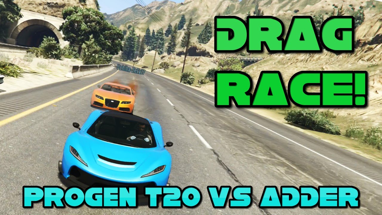 gta 5 ps4 progen t20 vs adder drag race comparison. Black Bedroom Furniture Sets. Home Design Ideas