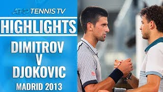 Extended Highlights: Dimitrov v Djokovic | Madrid 2013