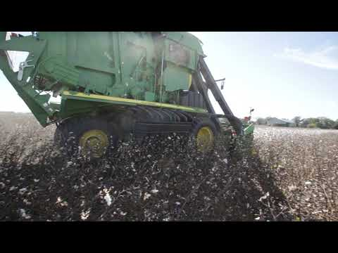 McKee Planting Company 3 on round module cotton harvester 6170