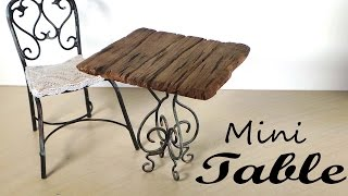 Miniature Furniture; Small Table Tutorial