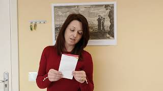 Velishka Ivanova ens llegeix en búlgar el poema de Marc Granell