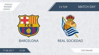 AFL 17.  Spain Premier League.  Barcelona-Real Sosiedad.  Day 13.