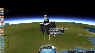 Kerbal Space Program Challenge - Poodle Engine (weakest) Part 1 - Orbit