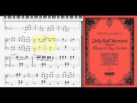 New Orleans Blues by Jelly Roll Morton (1925, Jazz piano)