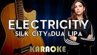 Silk City, Dua Lipa - Electricity ft. Diplo, Mark Ronson | Acoustic Guitar Karaoke Version Video