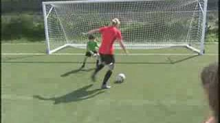 Soccer star Abby Wambach gives tips on taking shots on goal