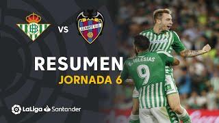 Resumen de Real Betis vs Levante UD (3-1)