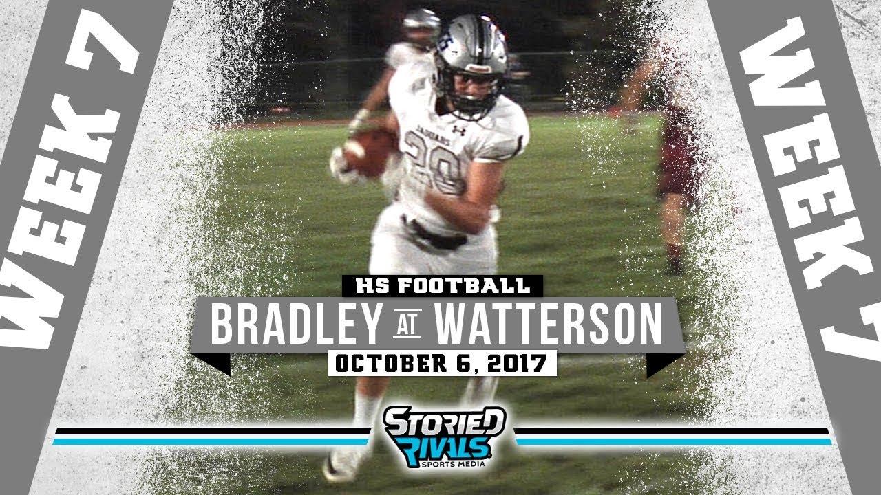 Hs Football Hilliard Bradley At Bishop Watterson 10 6 17 Youtube
