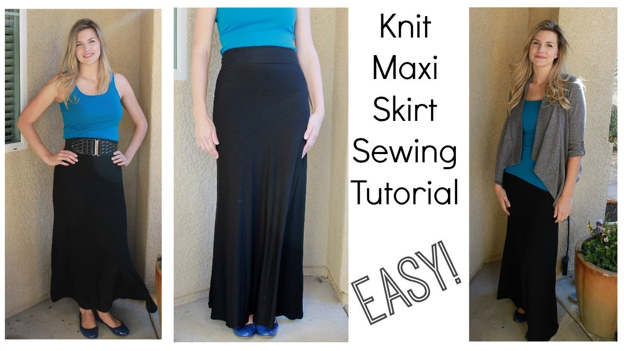 Maxi Skirt Diy Tutorial Using Knits