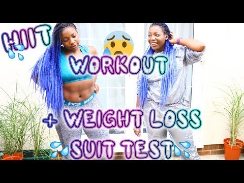 SLOW PACED BEGINNERS HIIT WORKOUT + WEIGHT LOSS SUIT TEST | Scola Dondo