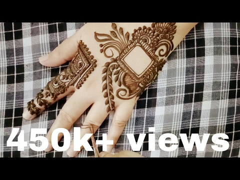 New Henna Design For Diwali 2016 Youtube