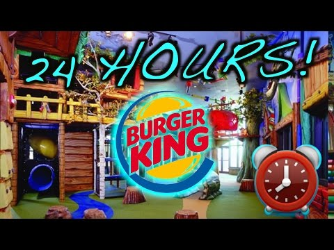 (LOCKED IN) 24 HOUR OVERNIGHT CHALLENGE AT BURGER KING PLAY PLACE - OVERNIGHT BURGER KING FORT