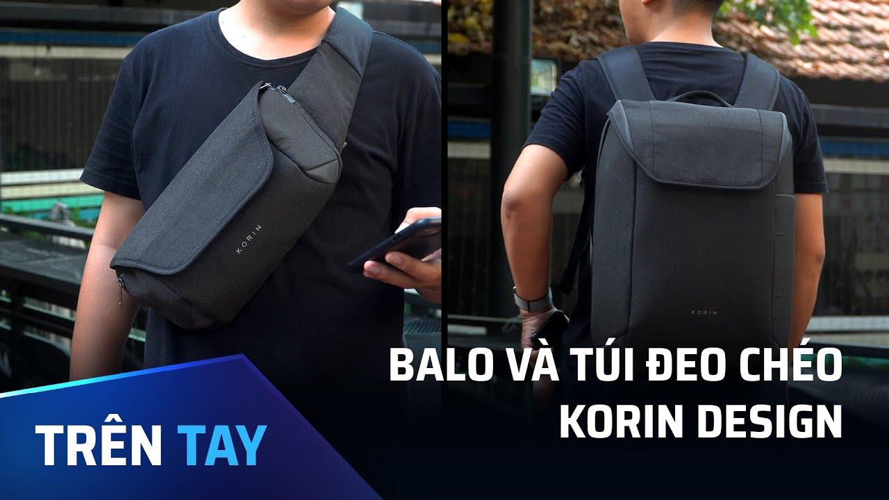 Trên tay balo và túi đeo chéo Korin Design