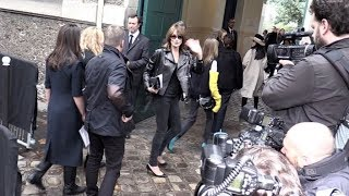 Carla Bruni, Izabel Goulart and more arriving for the Valentino Ready to Wear Fashion Show