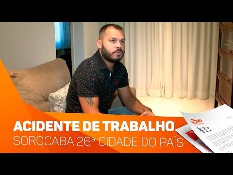 Sorocaba 26ª cidade do País em acidente de trabalho - TV SOROCABA/SBT